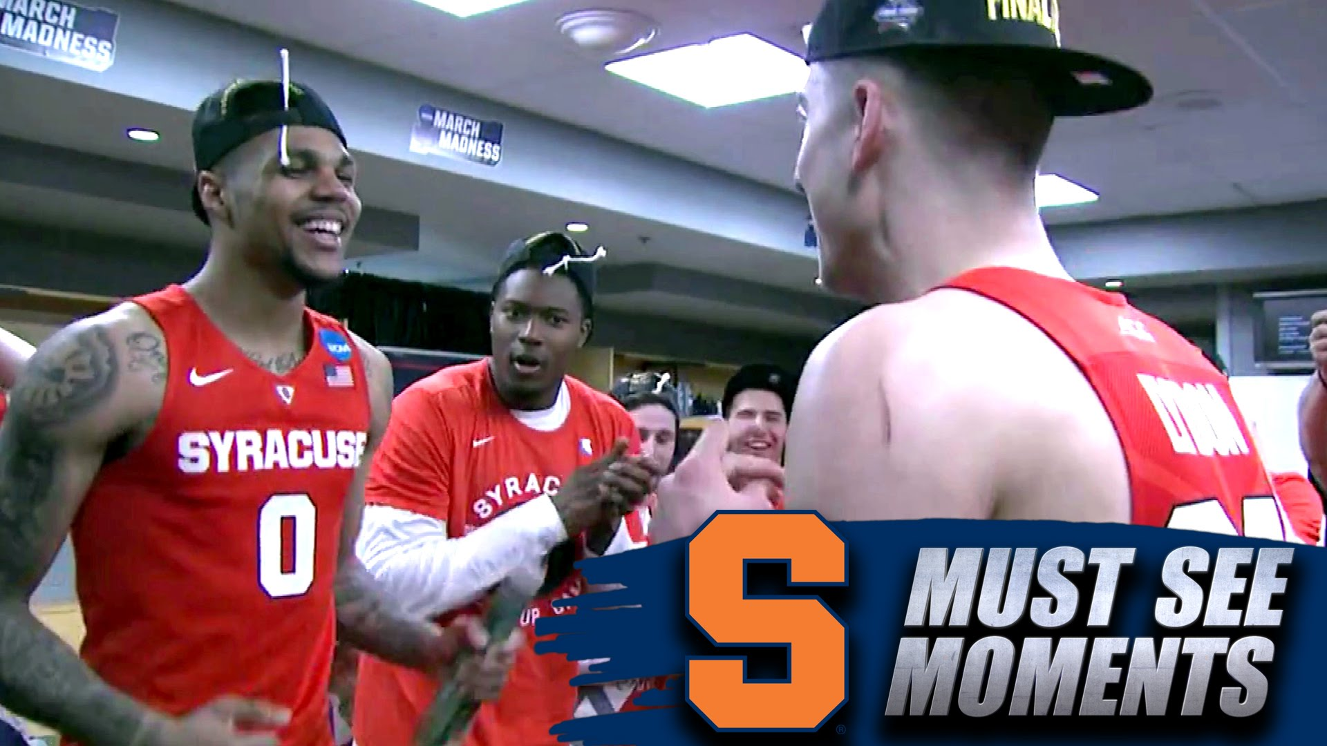 Jim Boeheim gives locker room speech to Syracuse after advancing to Final Four