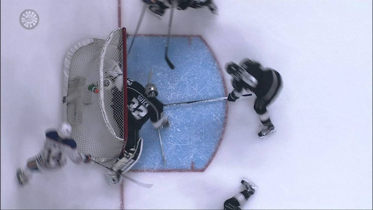 Jonathan Quick makes miraculous glove save on the Oilers