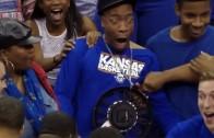 Kansas' Wayne Selden's dunk causes hilarious reaction by his uncle