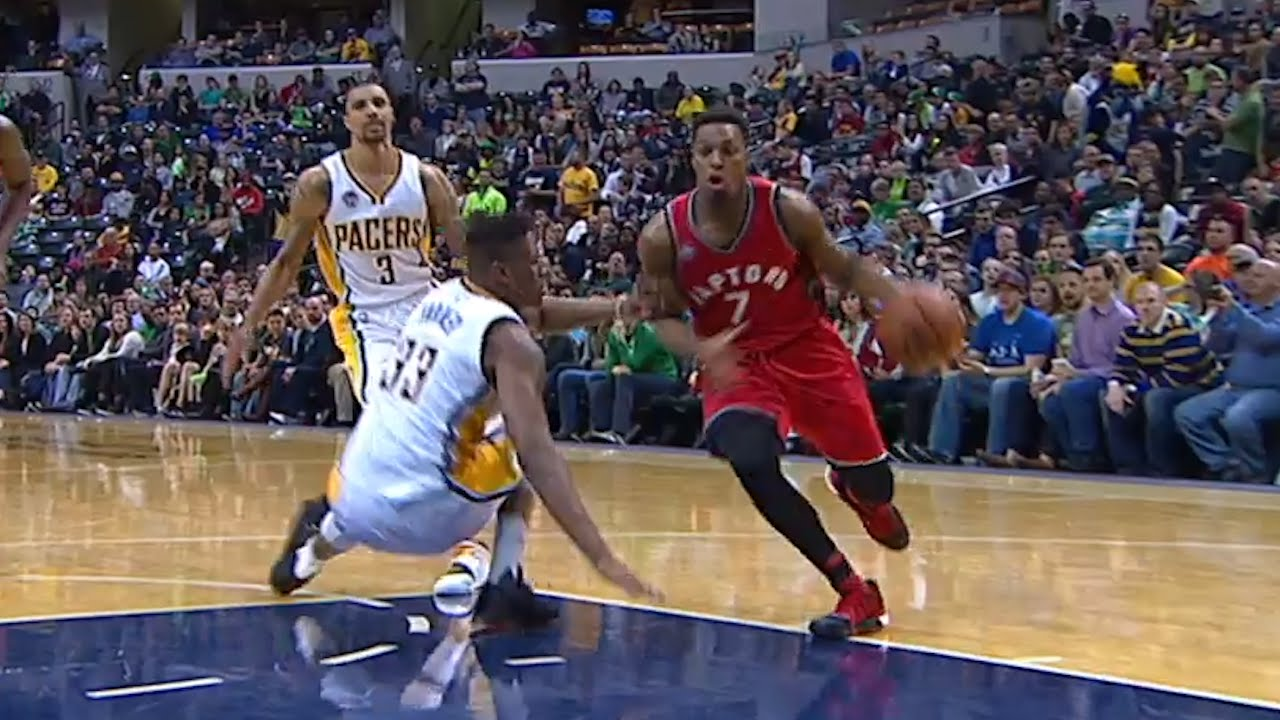 Kyle Lowry drops Myles Turner with the crossover