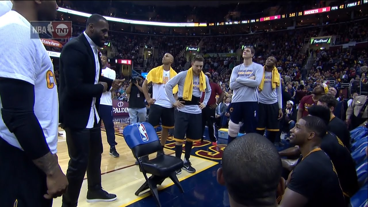 LeBron James was literally coaching the Cavs last night