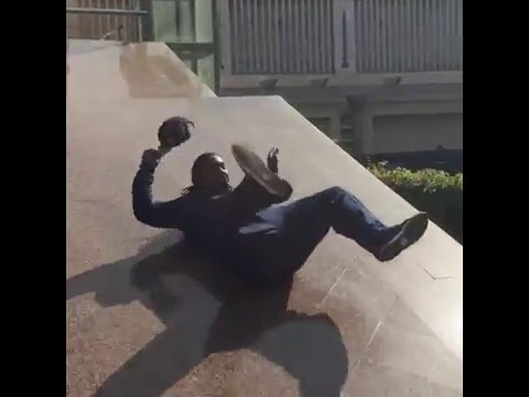 Marshawn Lynch slides into retirement in style