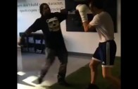 Marshawn Lynch spars with UFC champion Luke Rockhold