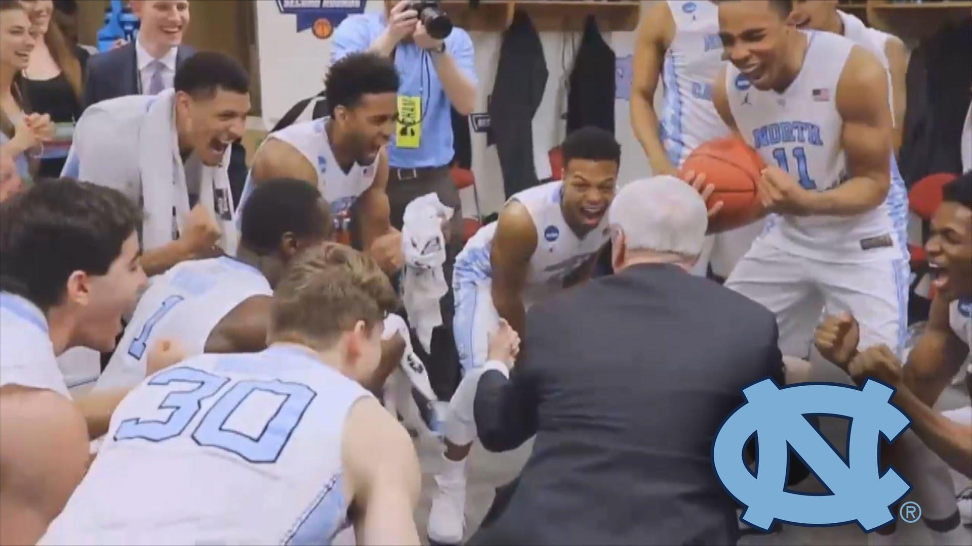 North Carolina celebrates Sweet 16 birth in the locker room