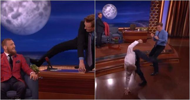 Conor McGregor scares Conan with his capoeira kick
