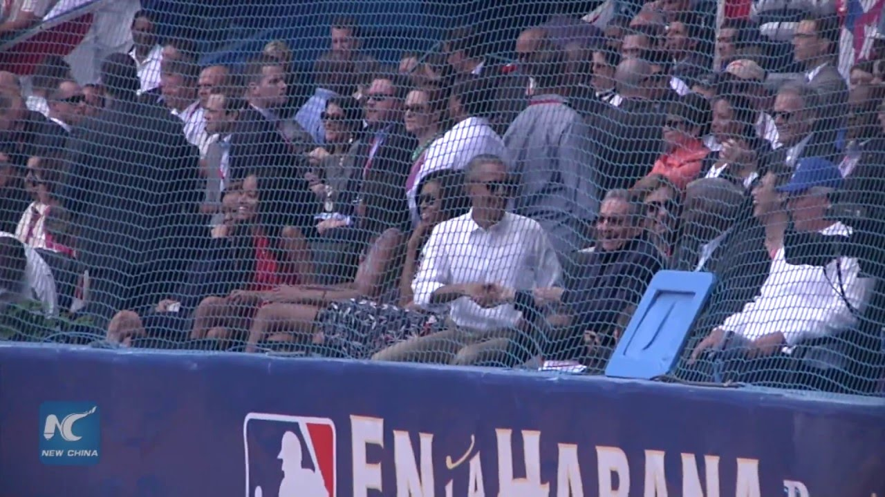 President Obama & Raul Castro sit together at Rays game in Cuba