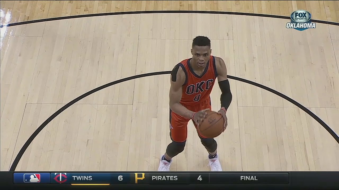 Russell Westbrook miraculously tips in his own free throw miss