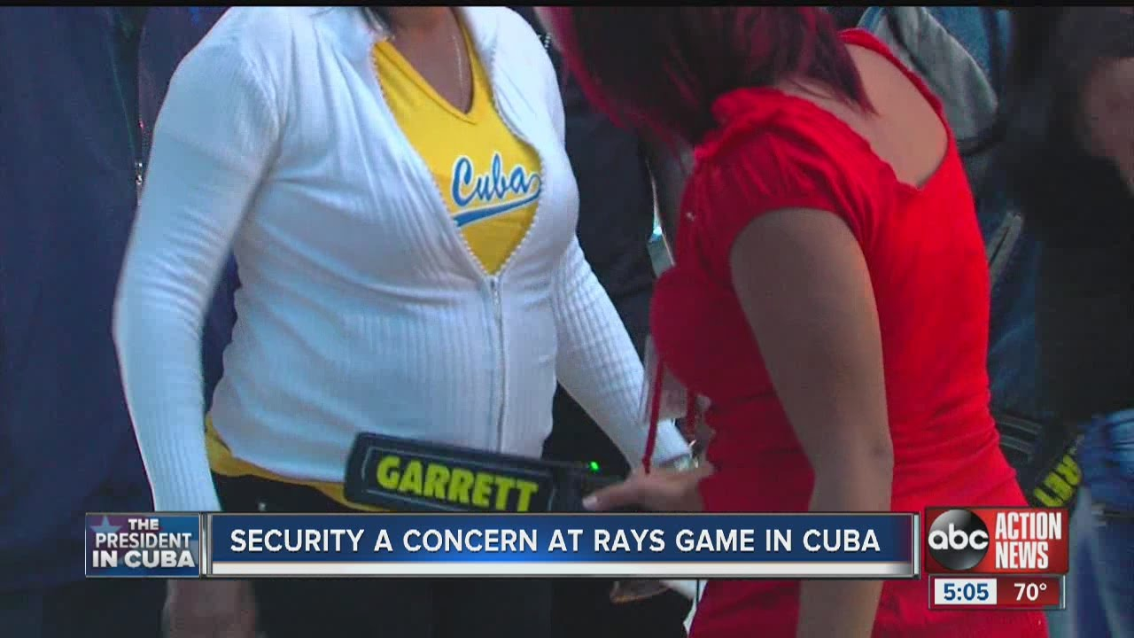 Security was a concern at Rays game in Havana, Cuba