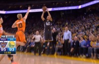 Stephen Curry hits 3-pointer & turns away before it goes in