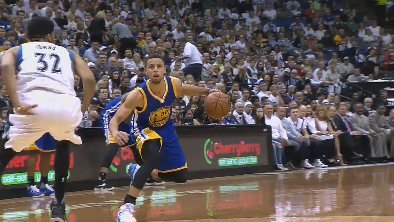 Stephen Curry's beautiful crosser & 3-pointer on the T-Wolves