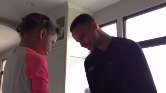 Riley Curry sings happy birthday to Stephen Curry