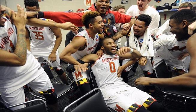 Maryland celebrates advancing to Sweet 16