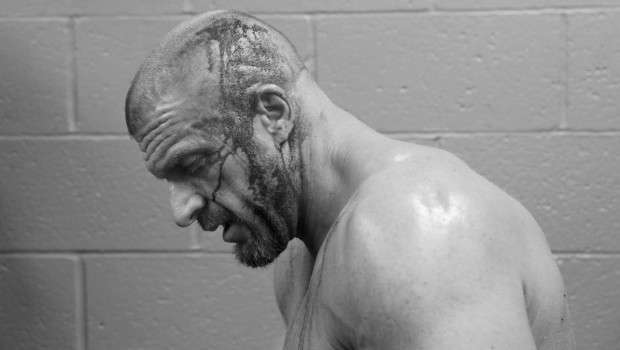 Triple H gets staples to his head after brutal head wound