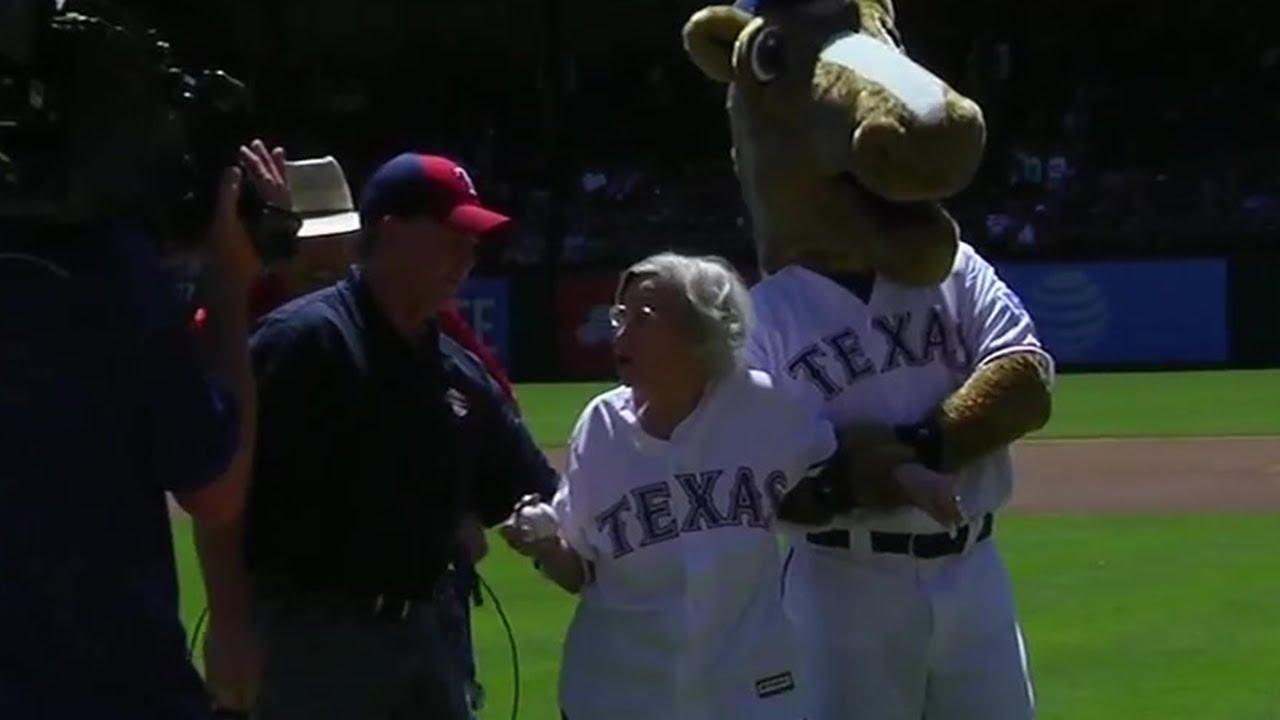 105-year old Texas Rangers fan reveals the secret to living long