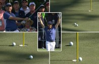 Louis Oosthuizen's shot hits ball to complete absolutely insane hole in one