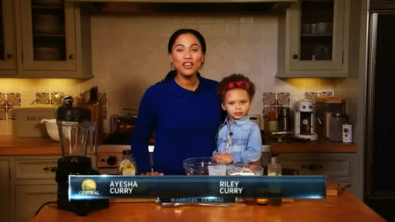 Riley Curry stars in Ayesha Curry's cooking show