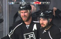 Actor Will Ferrell celebrates LA Kings game tying goal