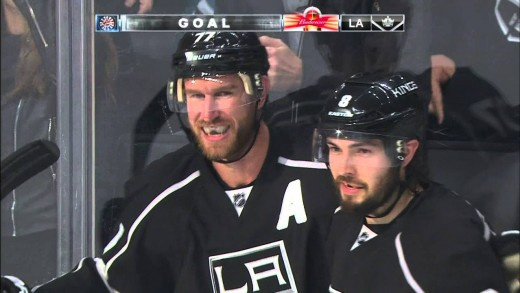Actor Will Ferrell celebrates LA Kings game tying goal