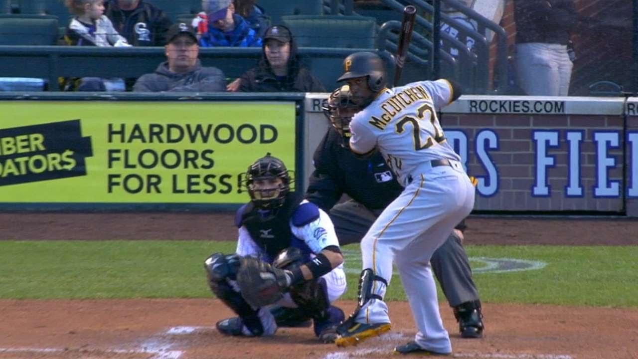 Andrew McCutchen belts 3 homers in Denver, Colorado
