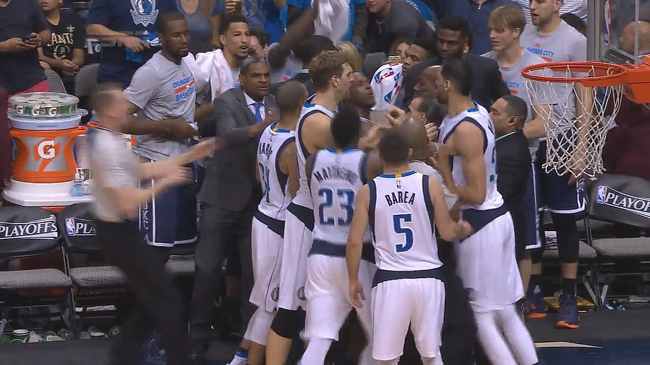 Anthony Morrow starts a scuffle with the Mavs from the bench