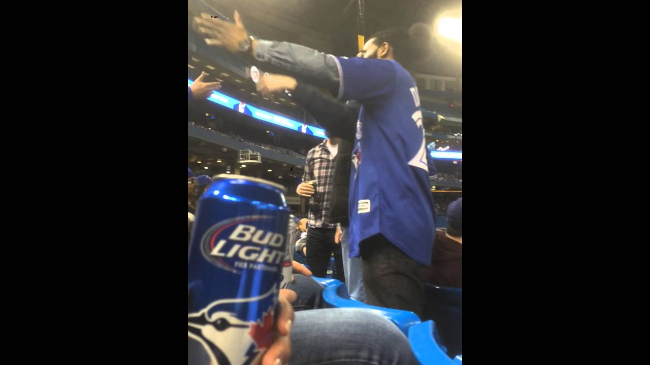 Blue Jays & Yankees fan fight from an alternate angle