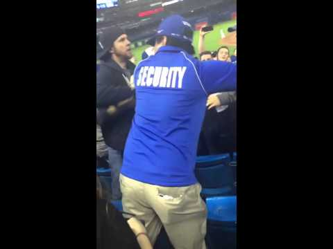 Blue Jays & Yankees fan throw blows in the stands