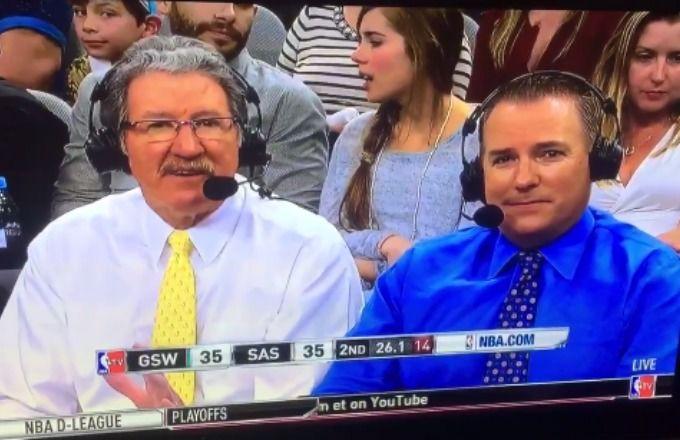 Golden State Warriors announcer calls Spurs fans