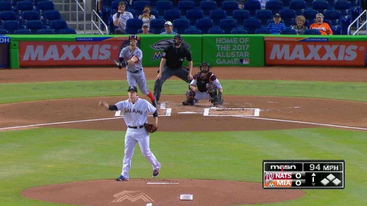 Bryce Harper hits his 8th home run of the season in Miami