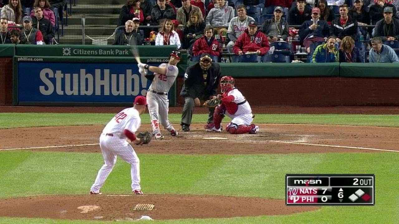 Bryce Harper unloads in Philadelphia for his 4th home run