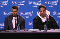 DeMar DeRozan, Dwayne Casey & Kyle Lowry speak on Raptors Game 1 loss