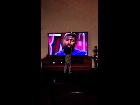 Dexter Fowler's daughter calls out for her dad on TV