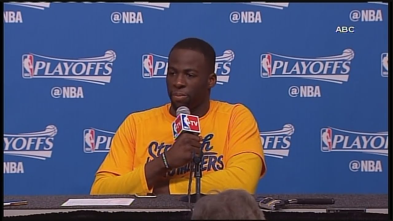Draymond Green checks a reporter for baiting him into Houston flood comments