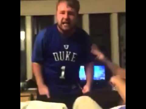 Duke fan celebrates Villanova's win over North Carolina