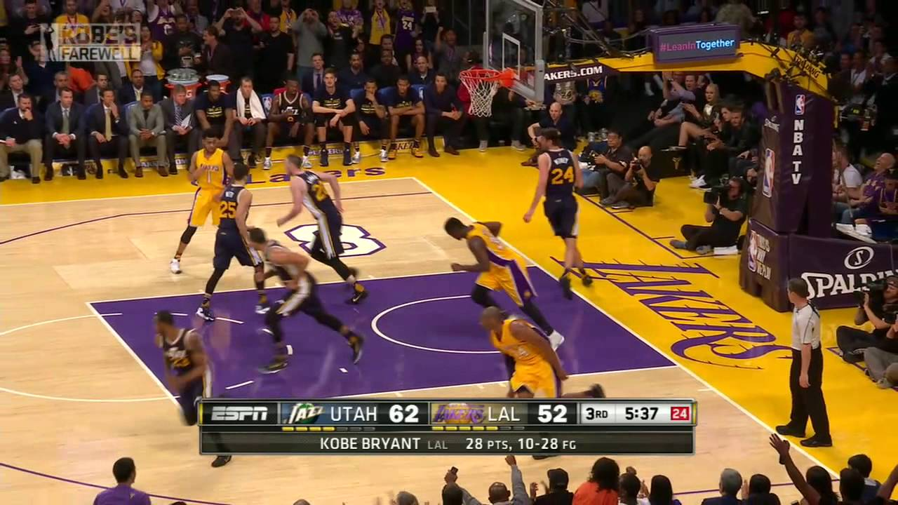 Every single one of Kobe Bryant's 60 points in his finale game