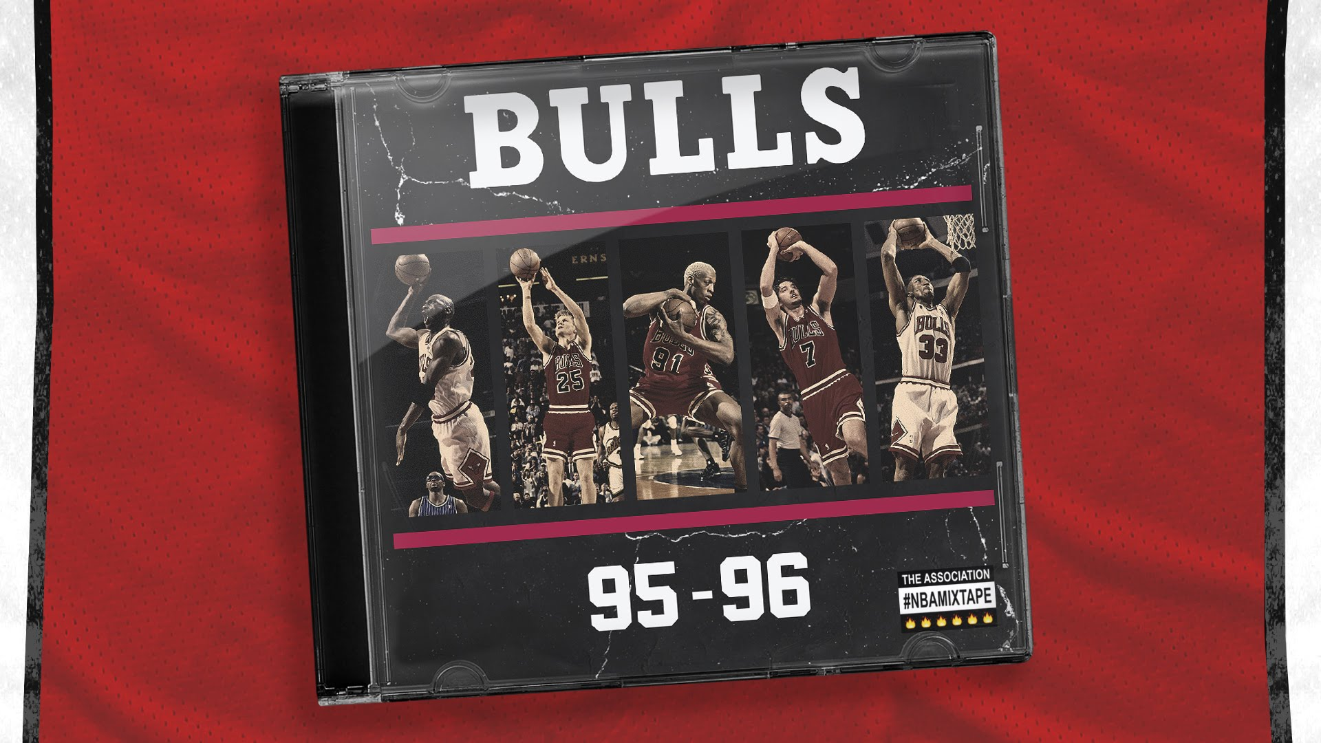 Highlight tape of the '95-'96 Chicago Bulls 72 win team