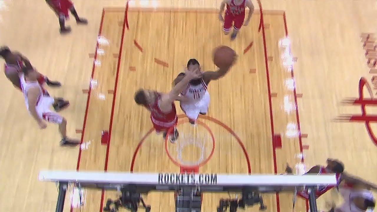 James Harden throws down the slam dunk on Pau Gasol