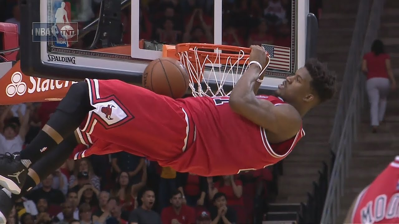 Jimmy Butler gets T'd up for pulling up on the rim