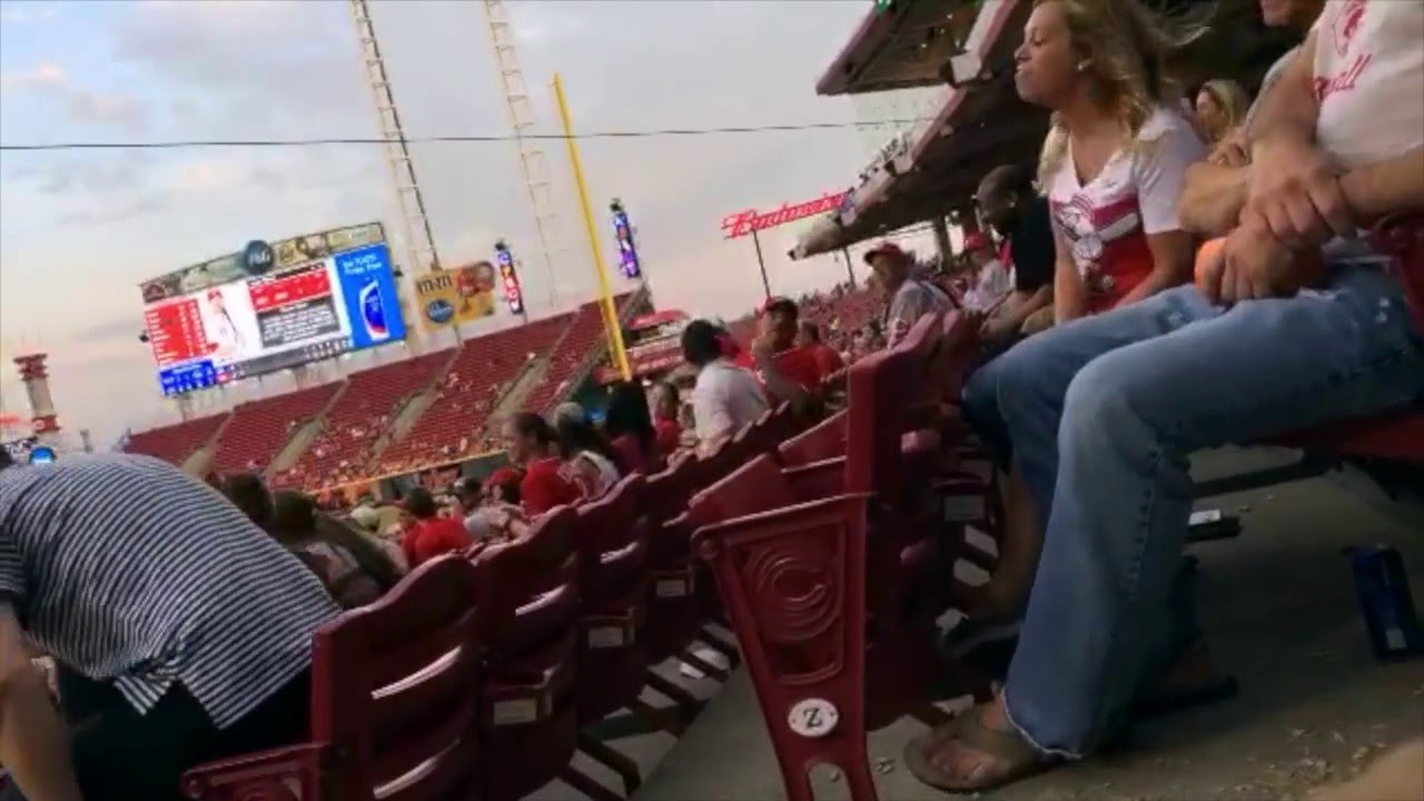 Joey Votto's proclaimed number one fan screams annoyingly