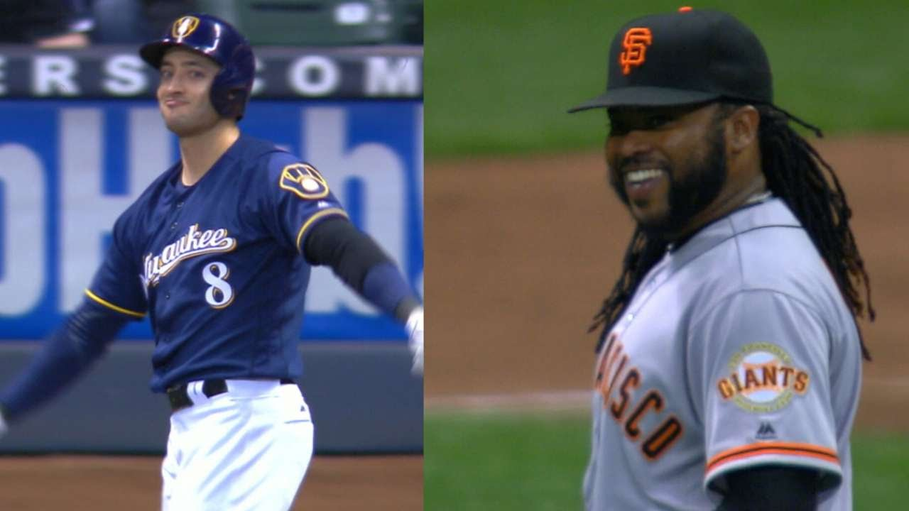 Johnny Cueto & Ryan Braun praise each other after good results off each other