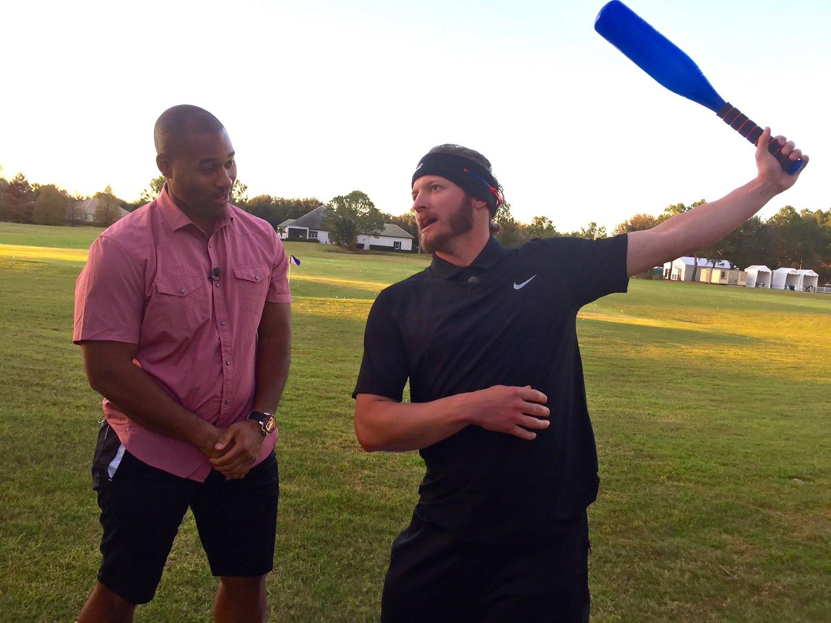 Josh Donaldson previews his new bat flip with Cabbie
