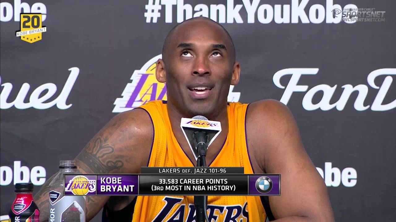 Kobe Bryant's final press conference (31 minutes)