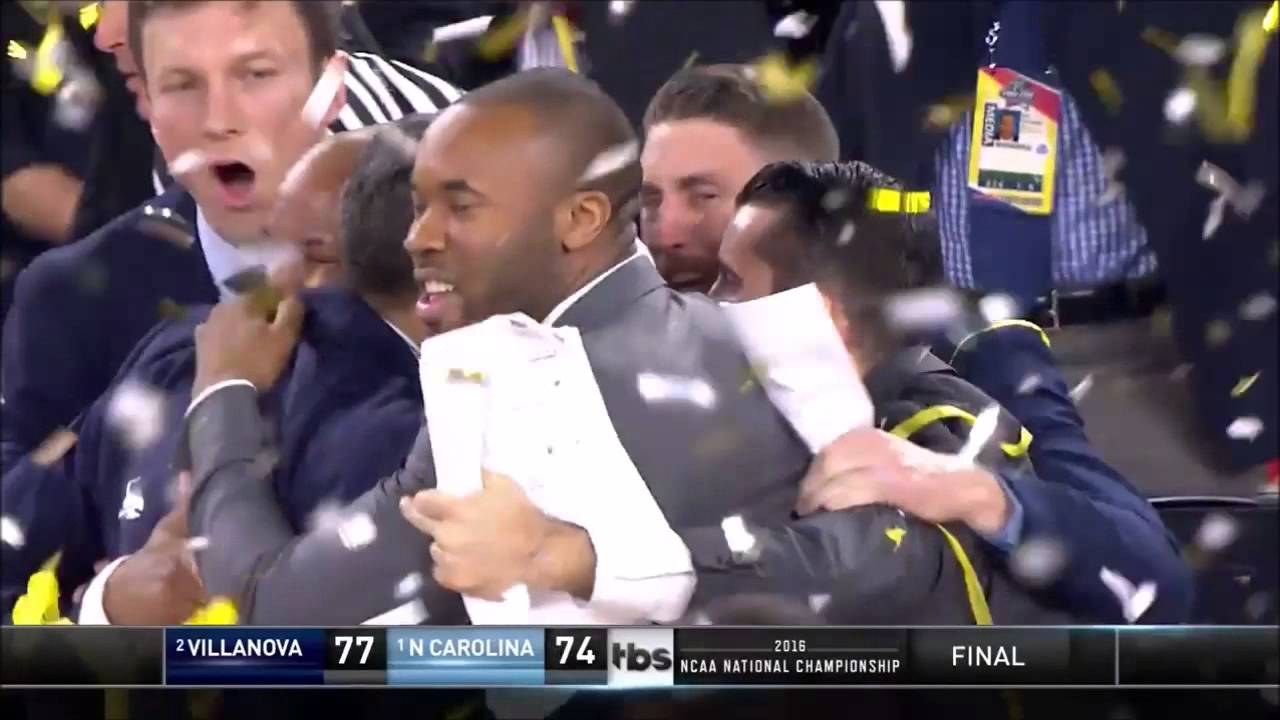 Kris Jenkins hits buzzer beater 3-pointer for the National Championship