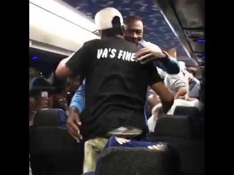 Michael Jordan congratulates Allen Iverson on being a Hall of Famer