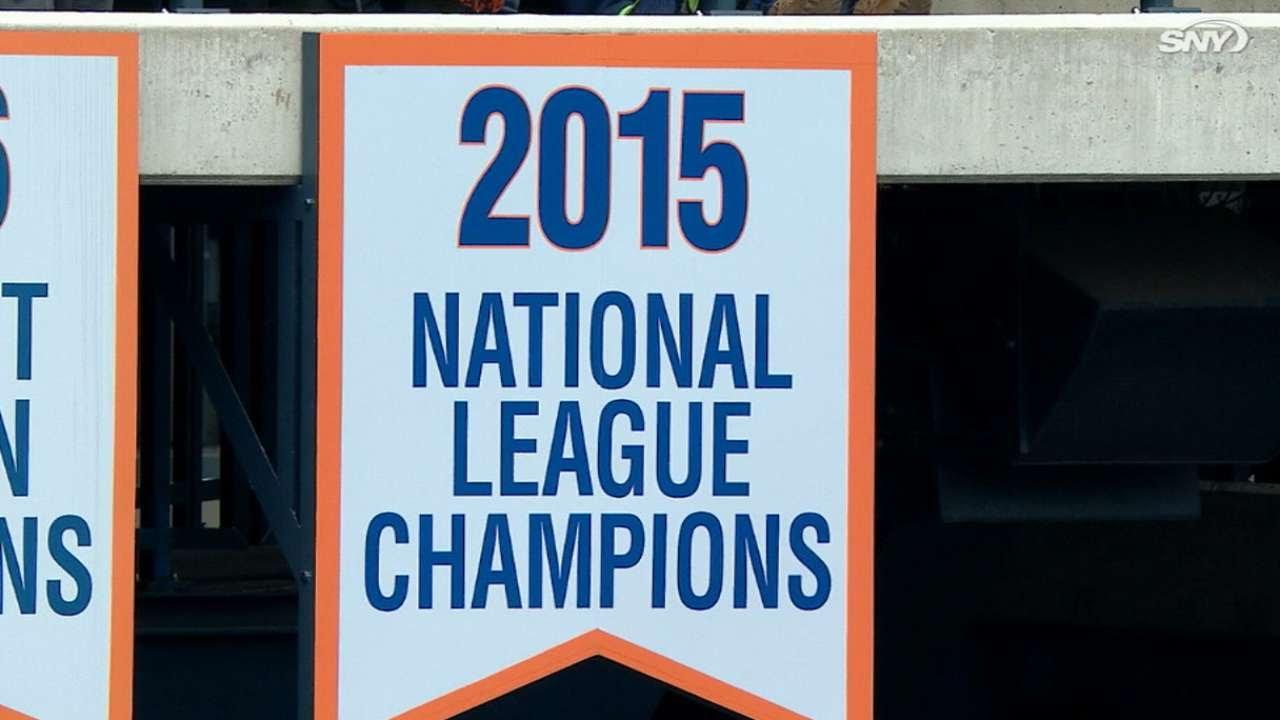 New York Mets raise NL pennant banner at Citi Field