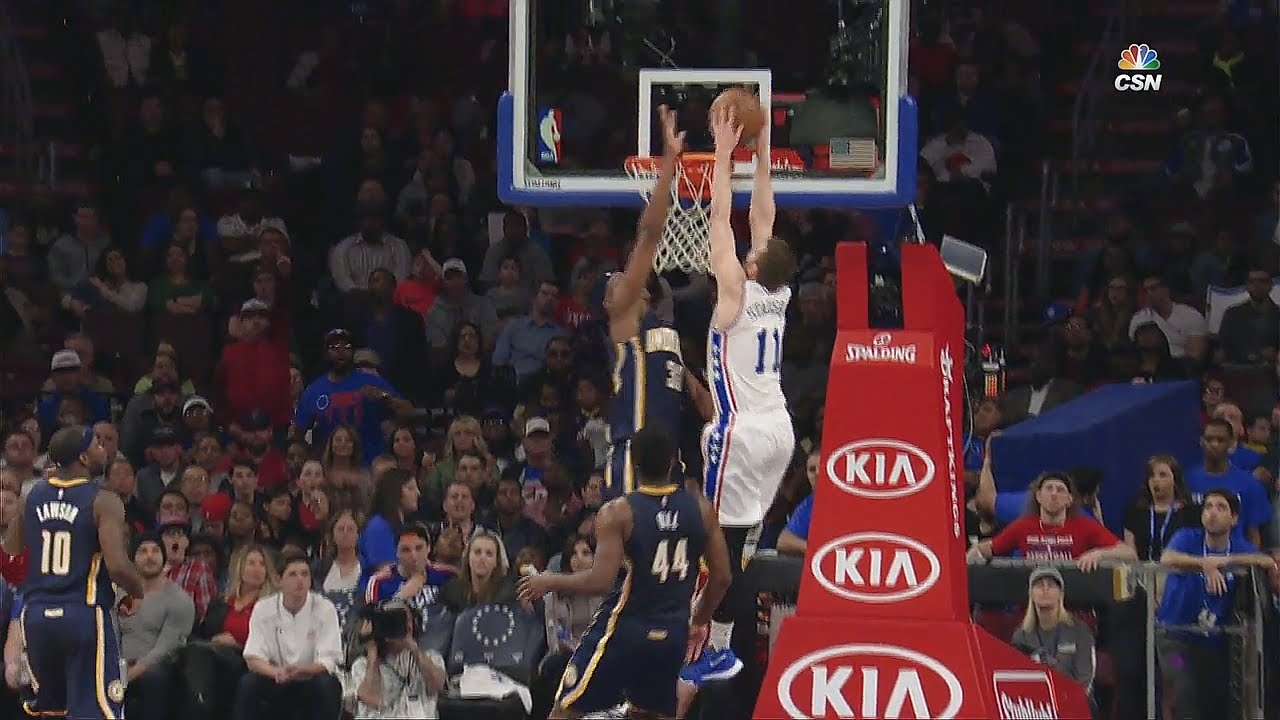 Nik Stauskas stuns Pacers with the poster slam