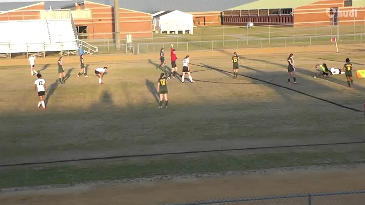 No Chill: High school soccer goalie lays out players running by her