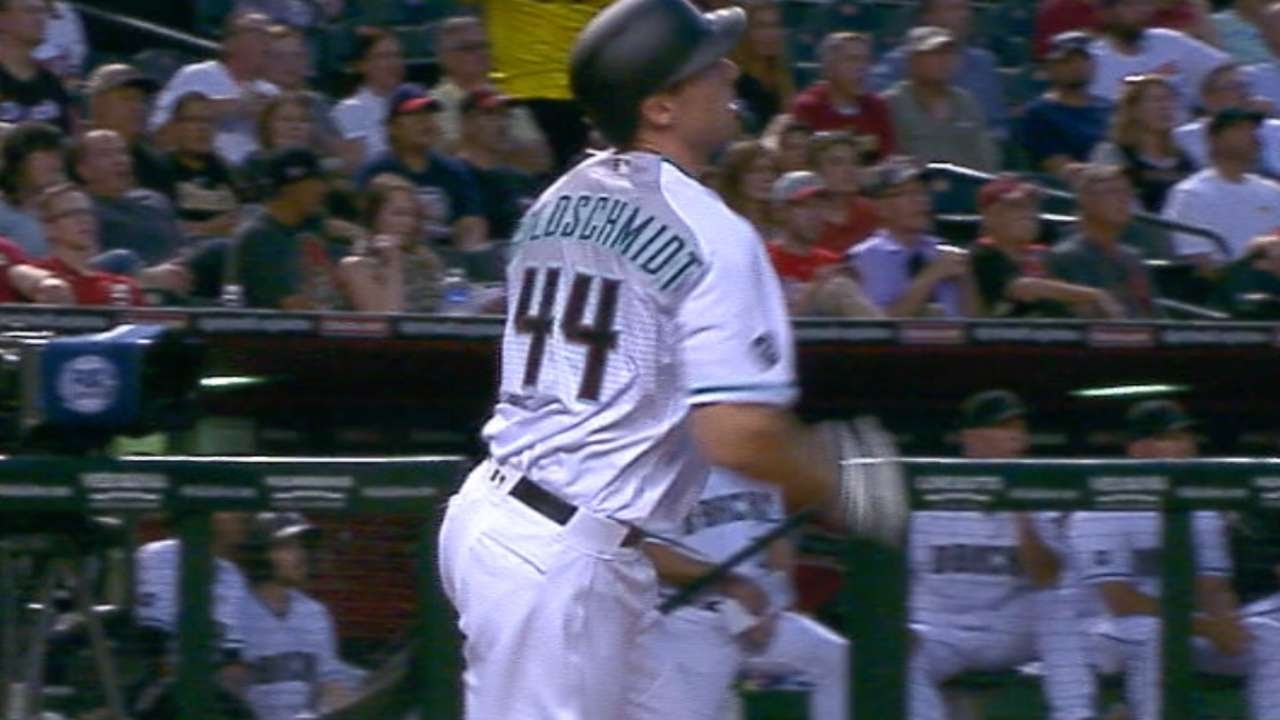 Paul Goldschmidt gets on the board with a mammoth oppo-center shot