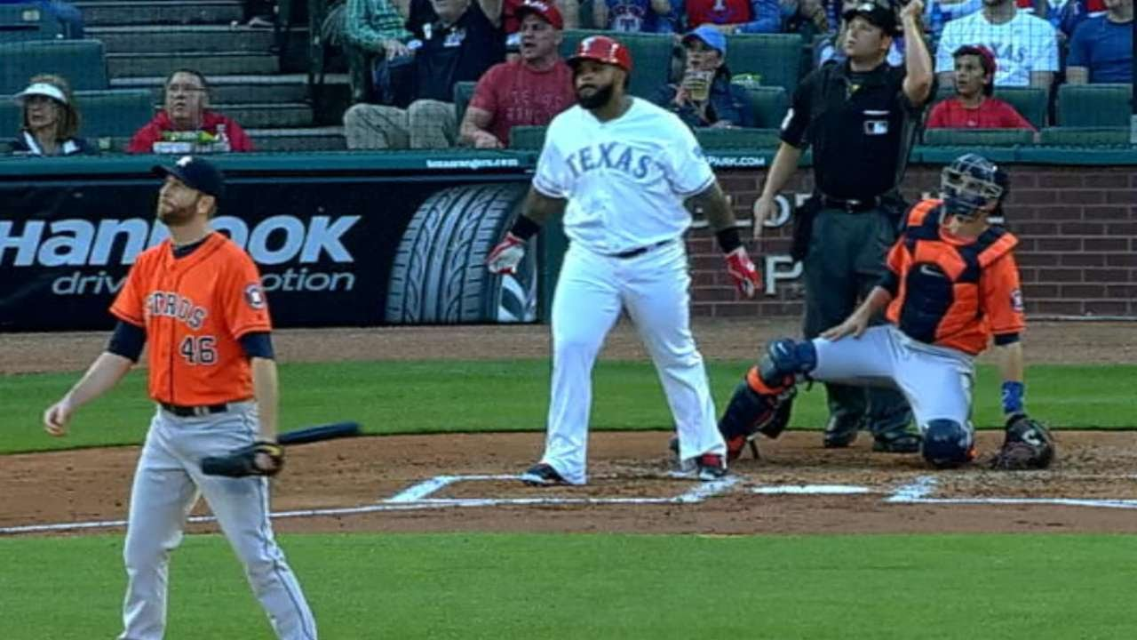 Prince Fielder destroys a homer passed Rangers outfield seats