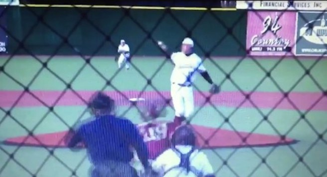 High school pitcher snags line drive with bare hand