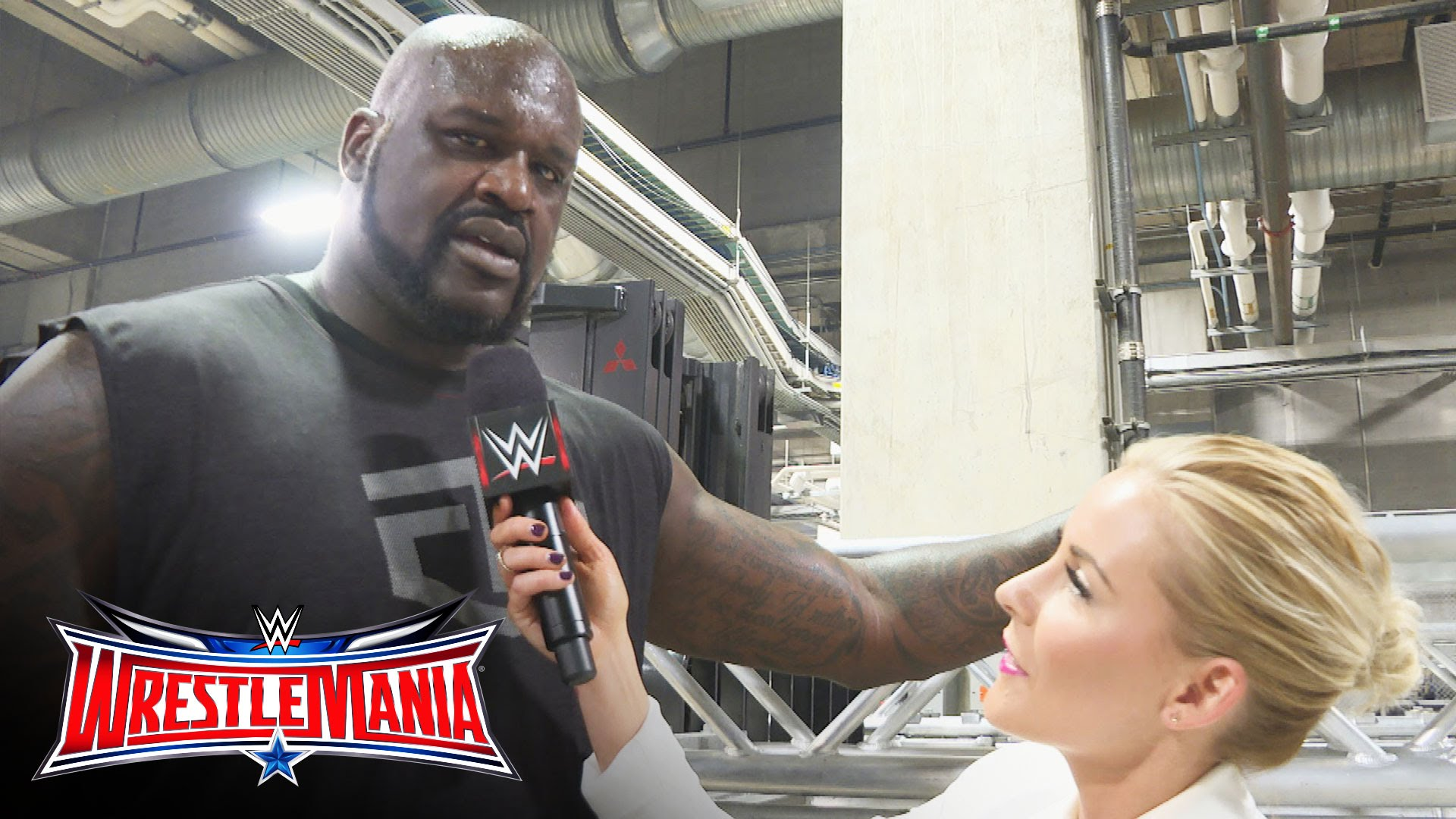 Shaq issues a challenge to Big Show after elimination at Wrestle Mania 32